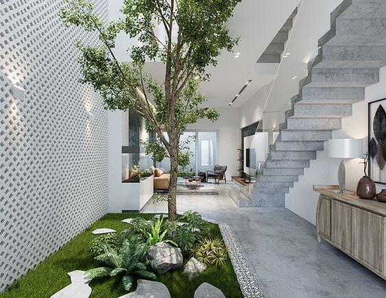 """ไอเดียการสร้างบ้านและออกแบบให้มี """"คอร์ตยาร์ด"""" COURTYARD"""